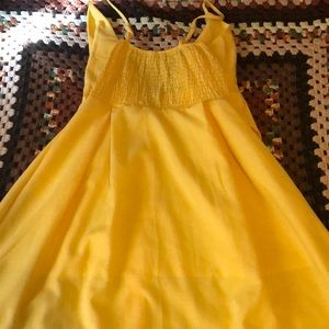 Yellow Mid Length Dress